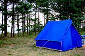 Blue tent — Stock Photo