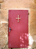 Monastery old door — Stock Photo