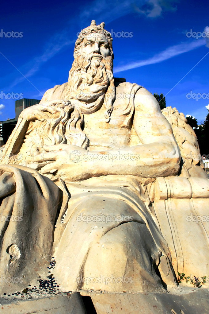Moses sand sculpture in Kharkov at Liberty Square — Stock Photo #1263399