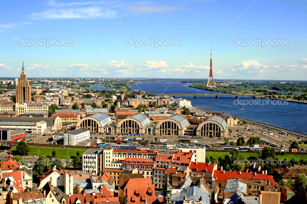 Riga from the height of bird flight — Stock Photo #1263656