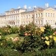 Rundale Palace and beautiful garden - Stock Photo