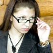 Portrait of young business lady - Stock Photo