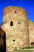 Old tower castle in town Bauska — Stock Photo