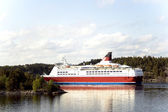 Cruise liner in Baltic sea — Stock Photo