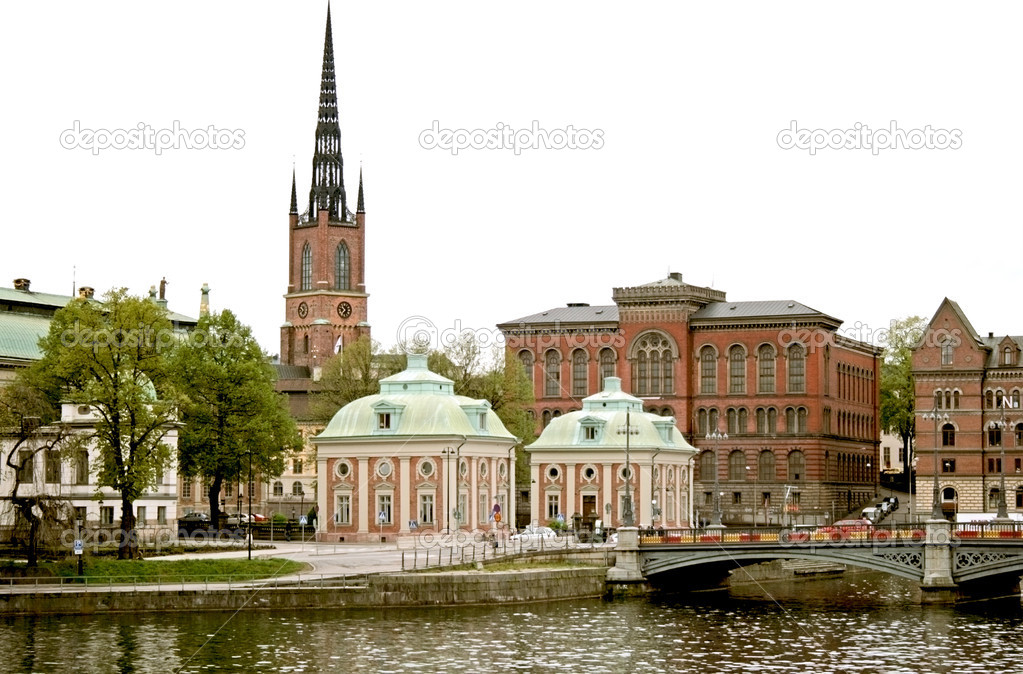 Panorama of Stockholm - european city  Stock Photo #1297482