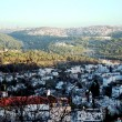 View a hill to country of Abu-Ghoush - Stock Photo
