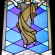 Stained glass window in  monastery — Stock Photo