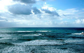 Winter Mediterranean sea — Stock Photo