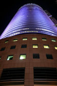 Business centre in nightly Te-Aviv — Stock Photo