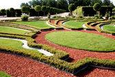 Beautiful garden in Rundale palace — Stock Photo