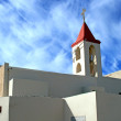 Greek Orthodox Church in Acre - Stock Photo