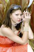 Porträt der reizende junge Dame — Stockfoto