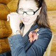 Portrait of young business lady — Stock Photo