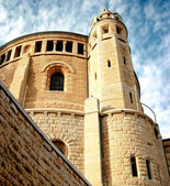 An old abbey in Jerusalem agains — Foto de Stock