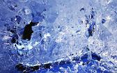 Blue melting ice texture — Stock Photo