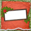 Royalty-Free Stock Photo: Frame for photo with pearls and bunch of