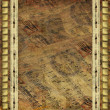 Royalty-Free Stock Photo: Grunge old album for photo with metallic