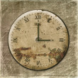 Antique clock face on the abstract backg — ストック写真