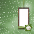 Green abstract background with frame and — Stock Photo #1134799