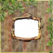 Wooden framework for portraiture on the — Stock Photo #1134863