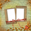 Royalty-Free Stock Photo: Grunge frames in scrapbooking style with