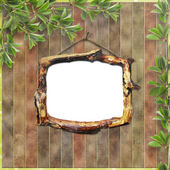 Wooden framework for portraiture on the — Stock Photo