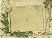 Karte für gratulation mit bändern und — Stockfoto