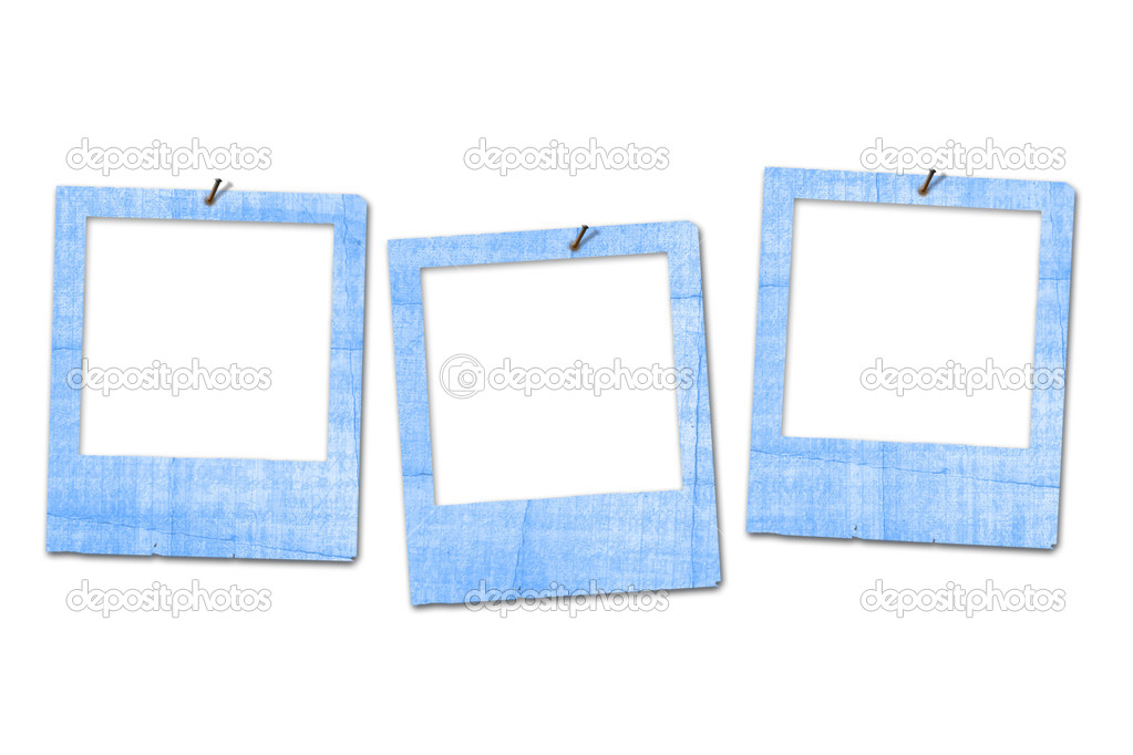 Three grunge slides on the white isolated background  Stock Photo #1132826