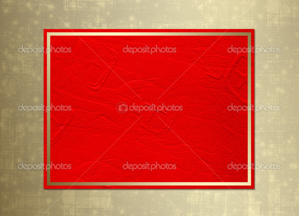 Card for congratulation or invitation with gold frame — Stock Photo #1135469