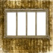 Old window on the antique background wit — Stock Photo