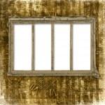 ventana antigua en el ingenio de fondo antiguo — Foto de Stock