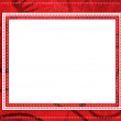 Red card for greeting in style retro wit — Stock Photo