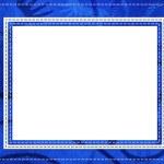 carte bleue pour la salutation en style rétro wi — Photo