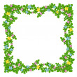 Frame of flowers garland on the white is — Stock Photo