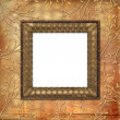 Stockfoto: Old grunge card on leafage ornamenta