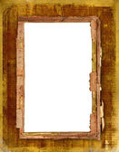 Old frame for photo or invitations attac — Stock Photo
