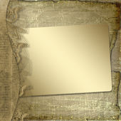 Grunge frame with ribbon and bow on the — Stock Photo