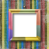 Striped scratch background with wooden m — Stock Photo