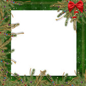 Greeting card for the holiday, with a re — Stock Photo