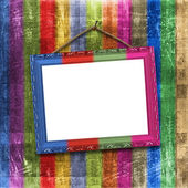 Wooden multicolored framework for portra — Stock Photo