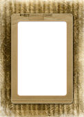 Grunge alienated frame from old paper on — Stock Photo