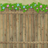 Wooden fence on the abstract background — Stock Photo