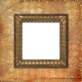 Starą kartę tło na ornamenta liść — Zdjęcie stockowe