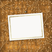 Cartão antigo do grunge na ornamenta a folhagem — Foto Stock