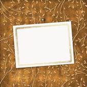 Oude grunge kaart op de leafage ornamenta — Stockfoto