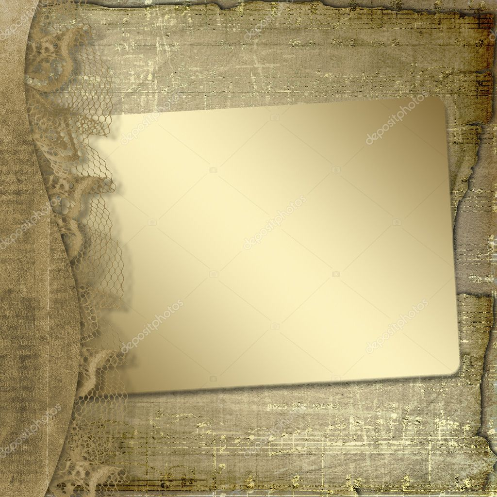 Grunge frame with ribbon and bow on the abstract background — Stock Photo #1145063