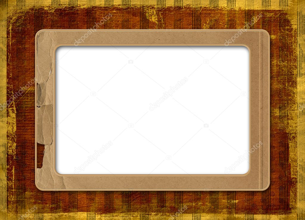 Grunge alienated frame from old paper on the striped background — Stock Photo #1148317