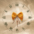 Antique clock face on the abstract backg - Stock Photo