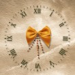 Royalty-Free Stock Photo: Antique clock face on the abstract backg