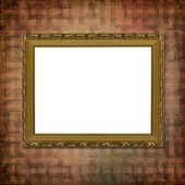 Picture gold frame with a decorative vi — Stock Photo